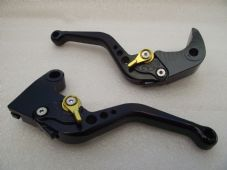 Triumph DAYTONA 675 (06-15), CNC levers short black/gold adjusters, F35/T333